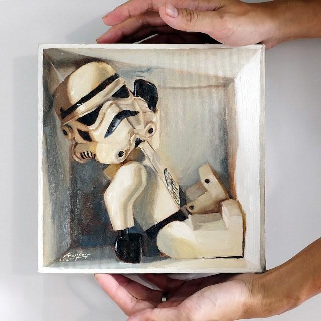 """Stormtrooper in a box"" original fine art by Haze Long"