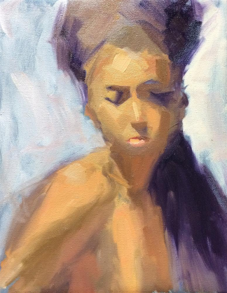 """Girl (Nude) 2"" original fine art by Naomi Bautista"