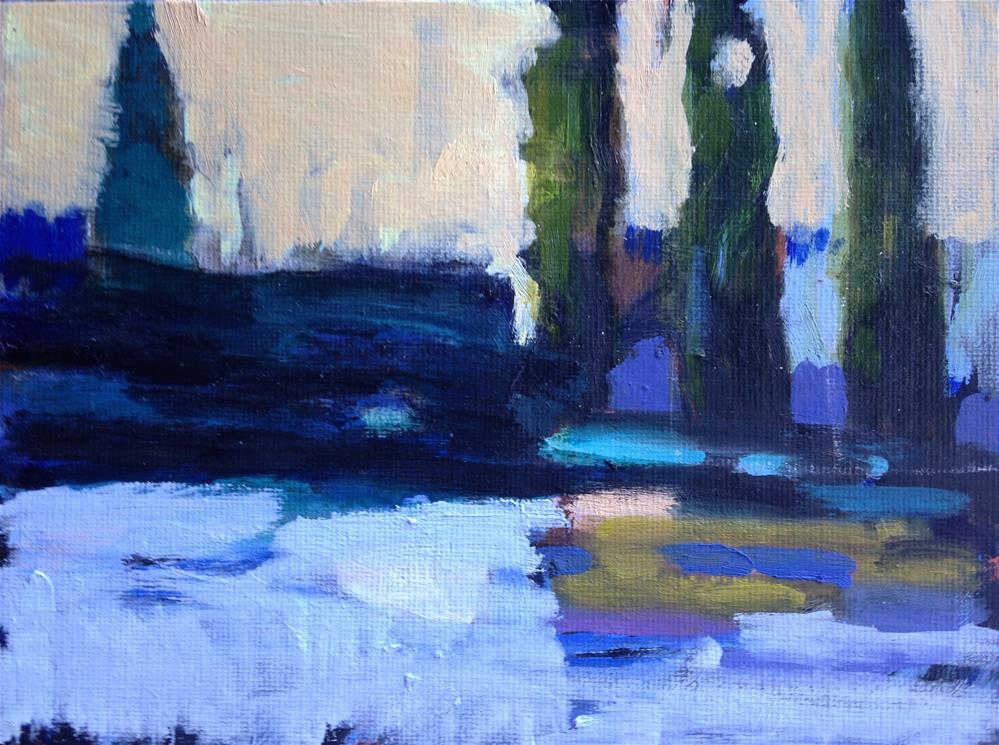 """""""Invented Landscape"""" original fine art by Pamela Hoffmeister"""