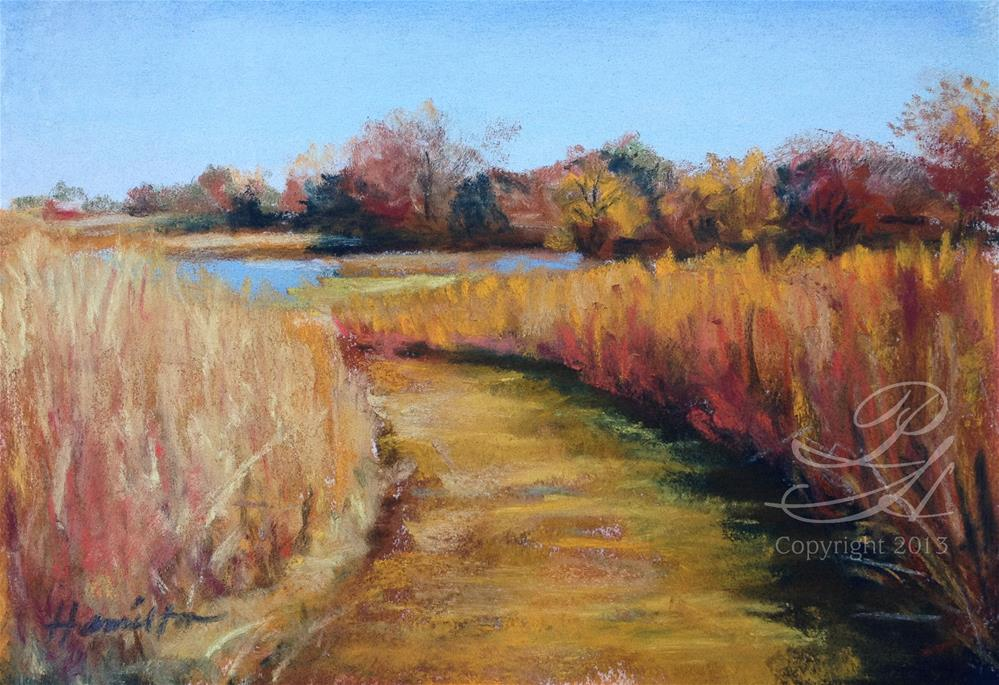 """At Peck Farm"" original fine art by Pamela Hamilton"