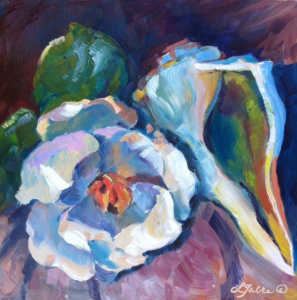 """Blossom and Shell"" original fine art by Laura Gable"