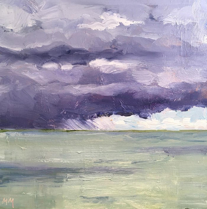 """Approaching Storm"" original fine art by Maria McNitt"