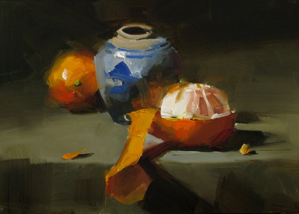 """""Discover the orange"" original fine art by Qiang Huang"