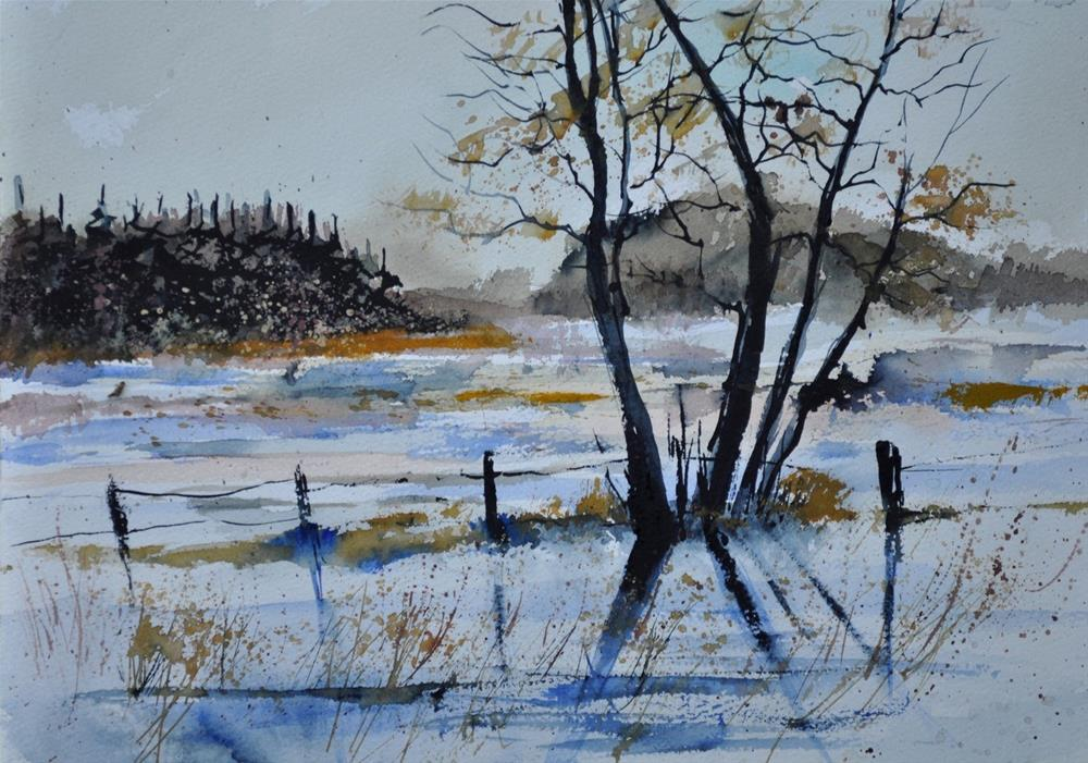 """watercolor 412172"" original fine art by Pol Ledent"