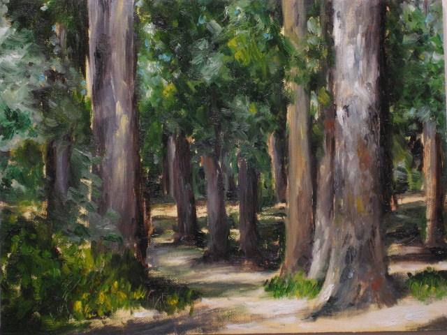 """""""Berkeley Grove"""" original fine art by Ruth-Ann Carlock"""