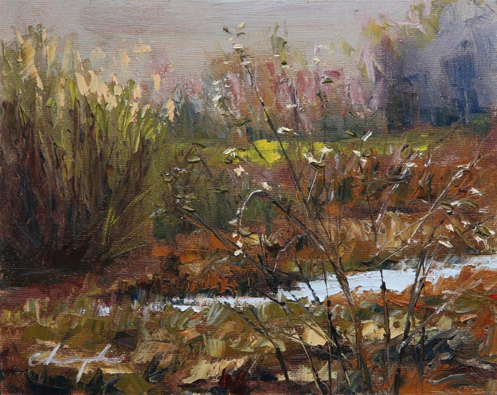 """""""Little Pond"""" original fine art by Chuang Liu"""