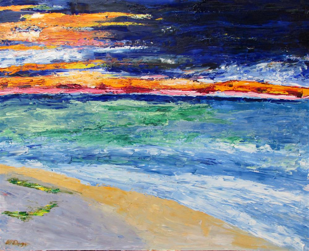 """Sunset, Lake Michigan"" original fine art by Will Dargie"