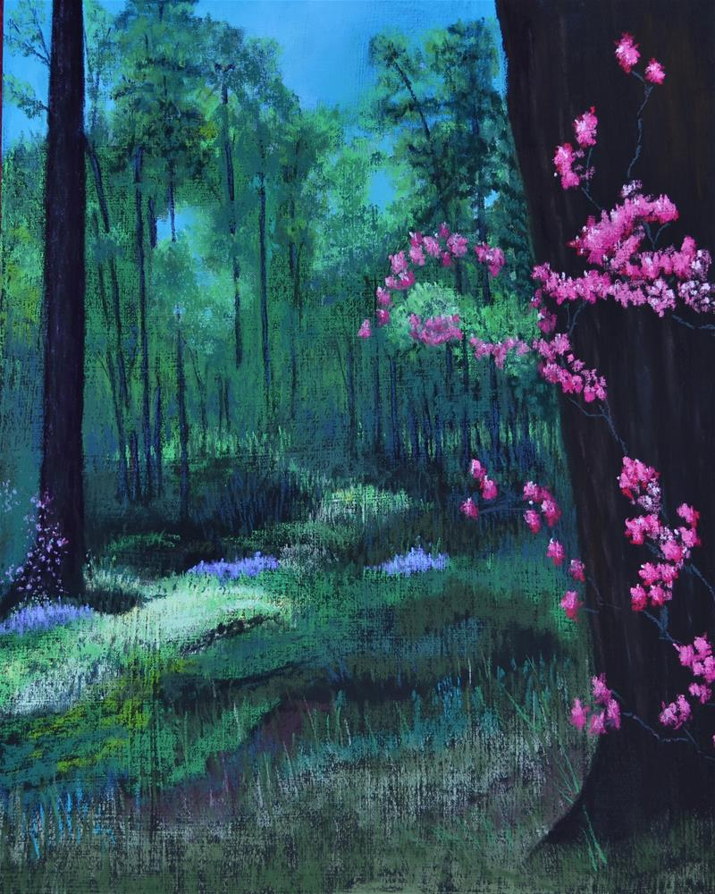 """Garden in the Woods"" original fine art by Laurie Sammons"