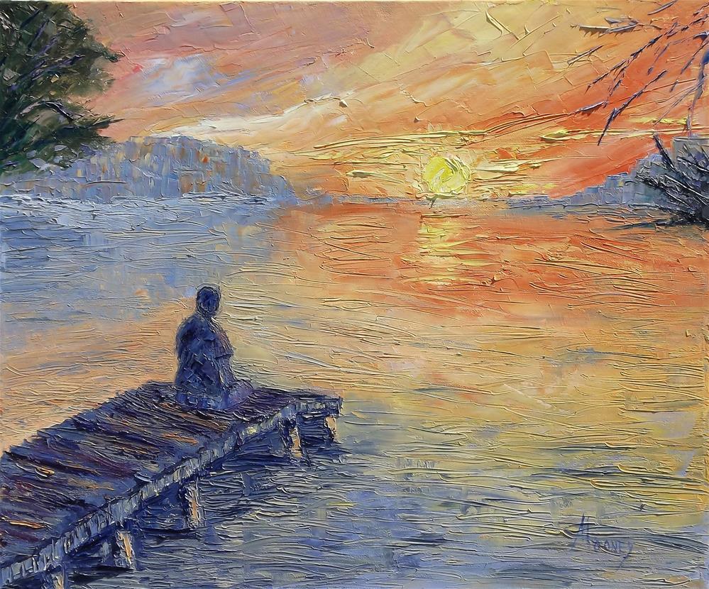 """Serenity"" original fine art by Linda mooney"