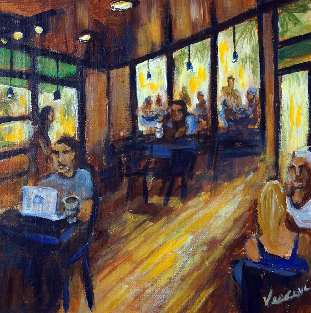 """Mizner Starbucks"" original fine art by Valerie Vescovi"