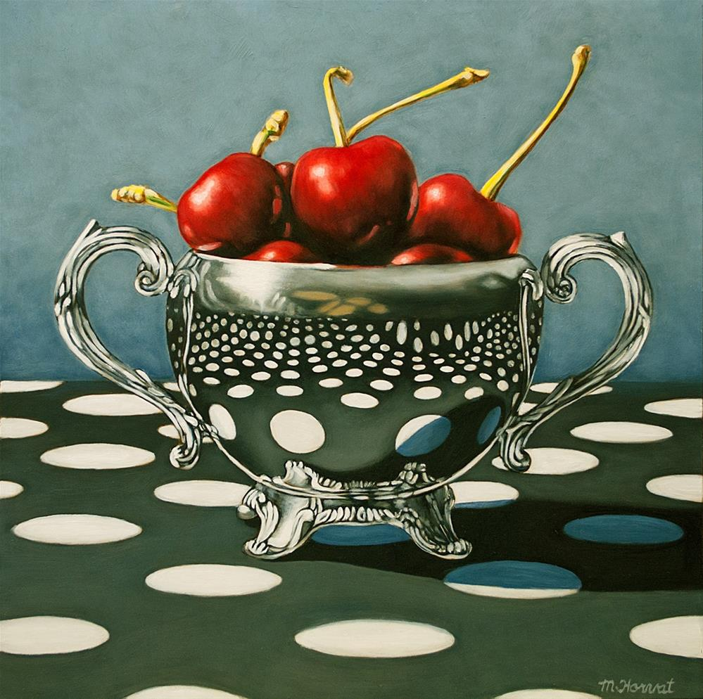 """Polka Dot Cherries"" original fine art by Margaret Horvat"