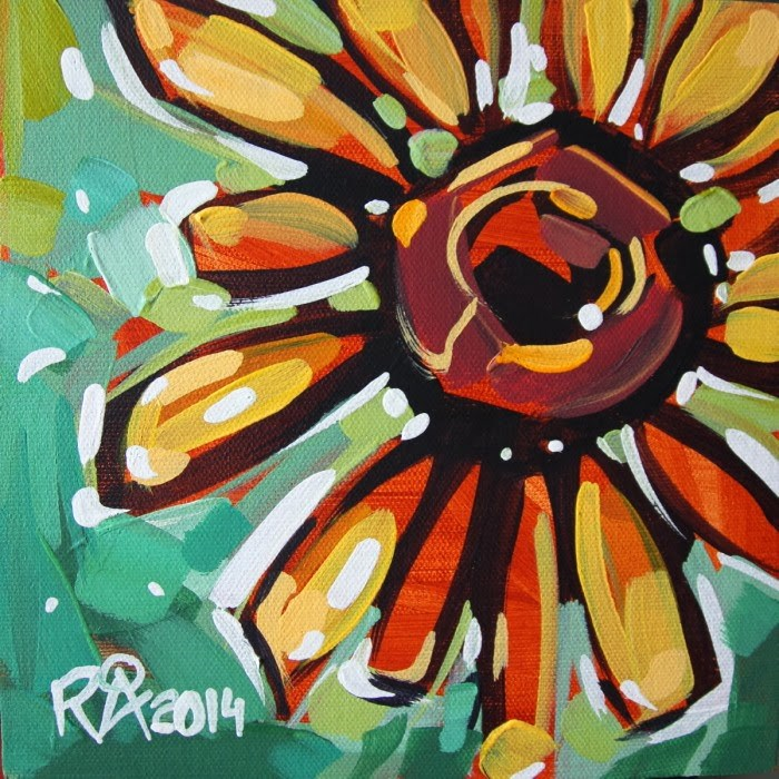 """Flower Abstraction 67"" original fine art by Roger Akesson"