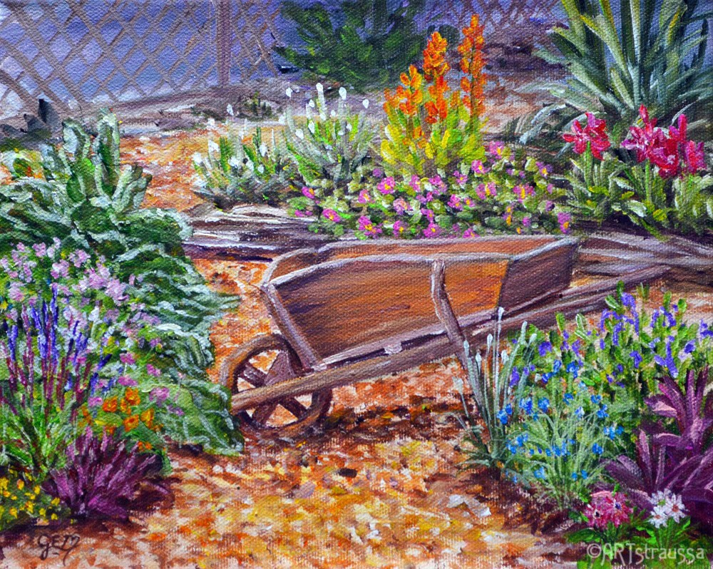 """'Barrow In The Midst"" original fine art by Gloria Ester"
