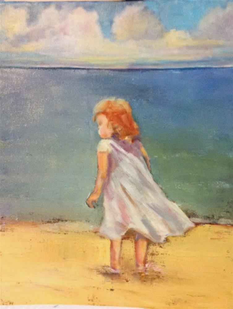 """Water, wind, wonder"" original fine art by Maggie Flatley"
