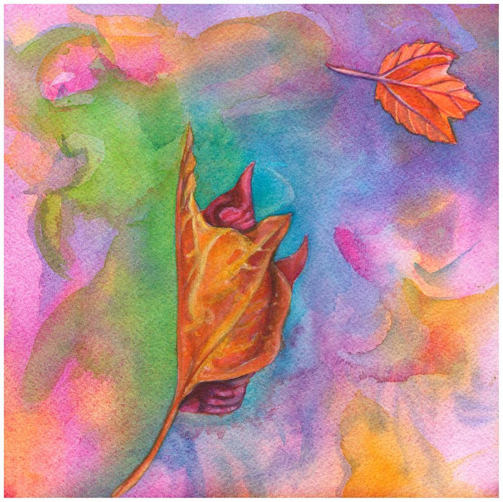 """Falling or Flying"" original fine art by Christine Anagnostis"