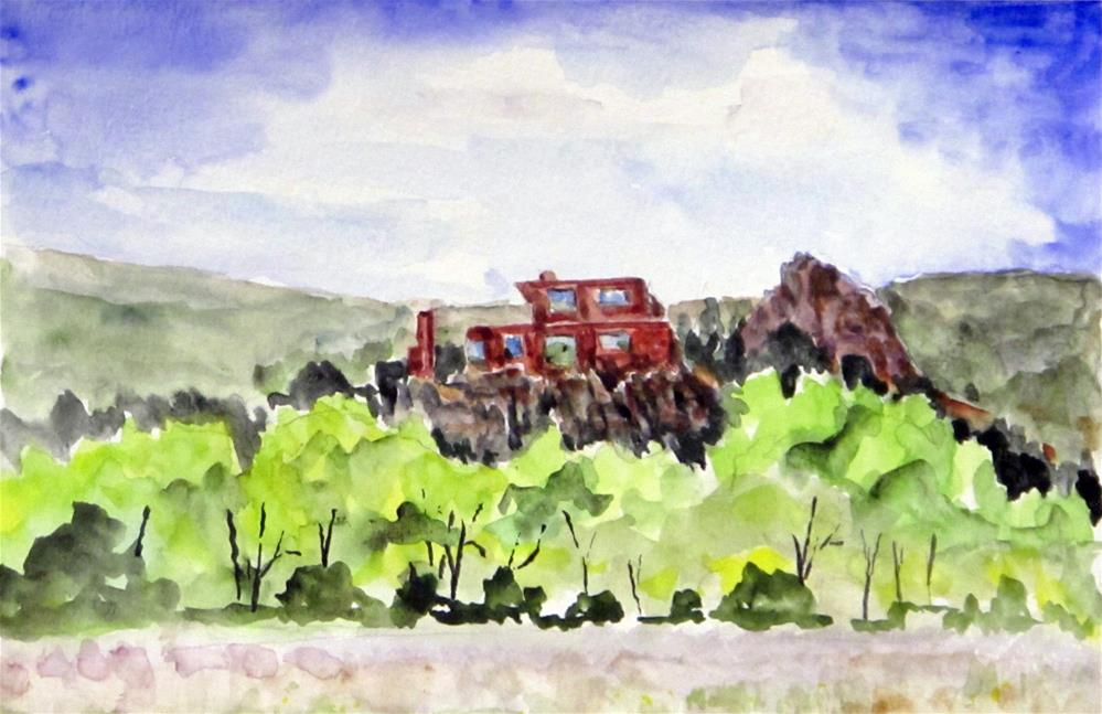"""Kannally Ranch House, Red Rock State Park"" original fine art by  David Beale"