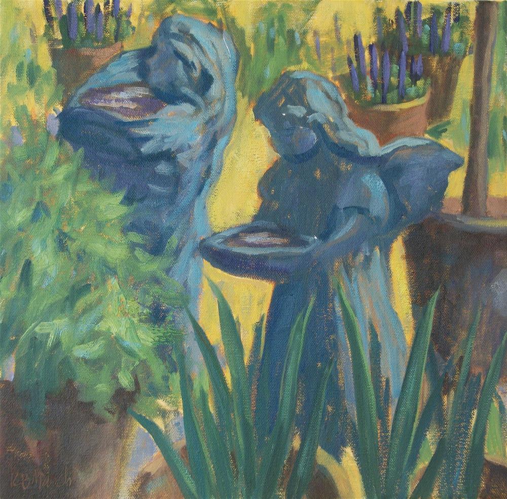 """""""Little Garden Girls Study"""" original fine art by Katharine March"""