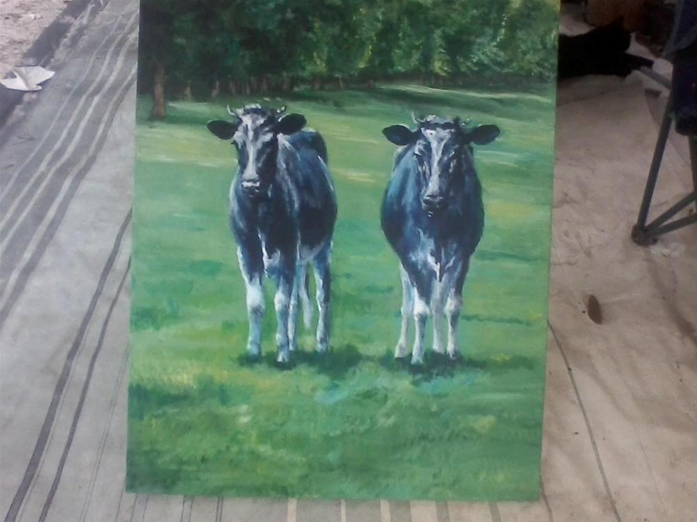 """""""A Pair of Aces"""" original fine art by Kate Less-Madsen"""
