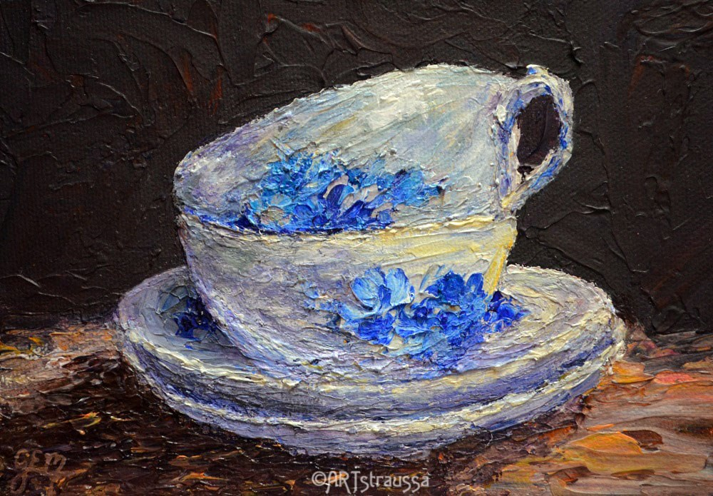 """Tea for Two"" original fine art by Gloria Ester"