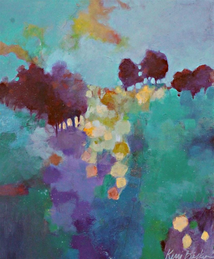 """""""Walking Up the Hill"""" original fine art by Kerri Blackman"""