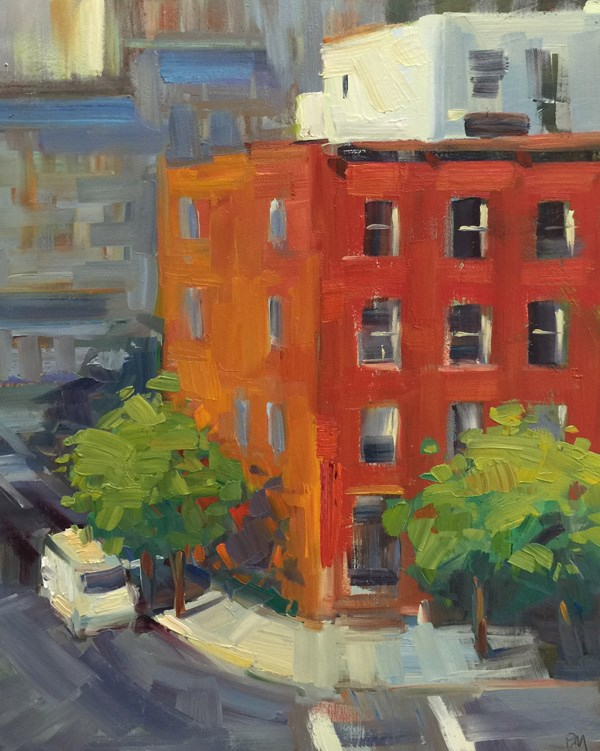 """View From Williamsburg Bridge"" original fine art by Patti McNutt"