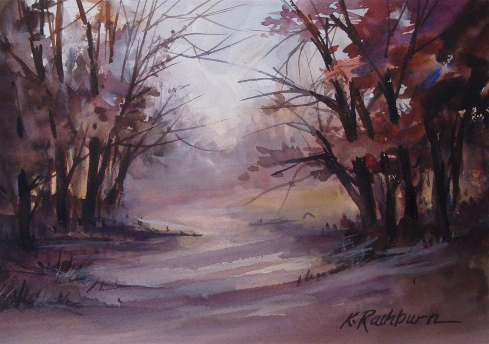 """The Fog is Rolling In"" original fine art by Kathy Los-Rathburn"