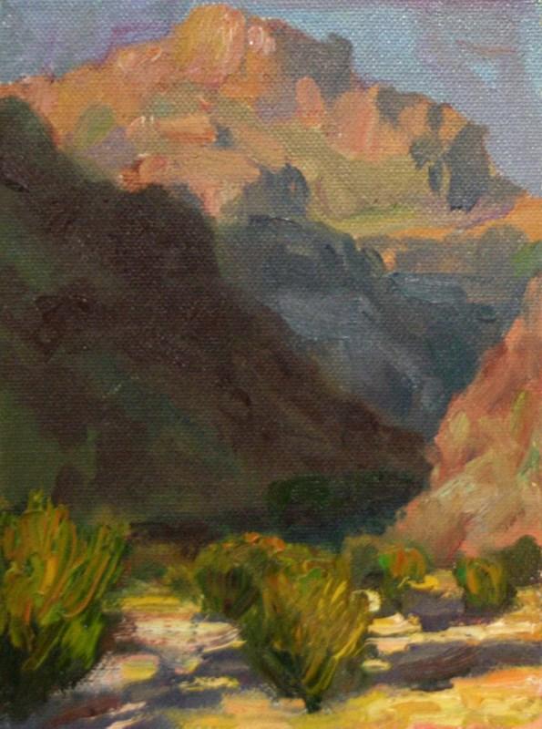"""Peach Springs Evening"" original fine art by K.R. McCain"