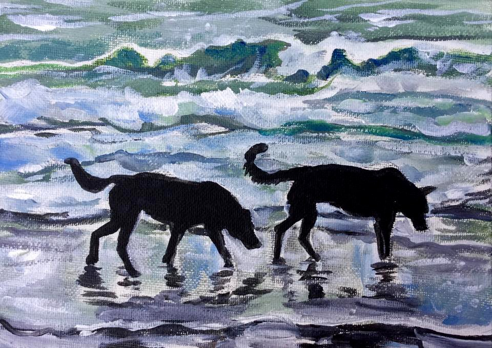 """Clamming"" original fine art by Lauren Kuhn"