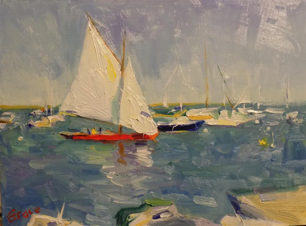 """Make Room For My Sail"" original fine art by Rita Brace"
