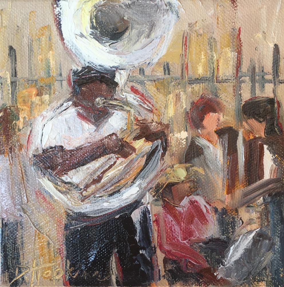 """Music Man"" original fine art by Denise Hopkins"