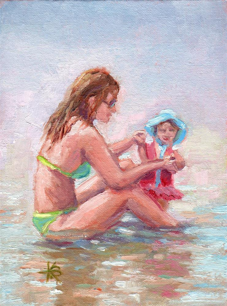 """Beach Day"" original fine art by Kathy Bodamer"