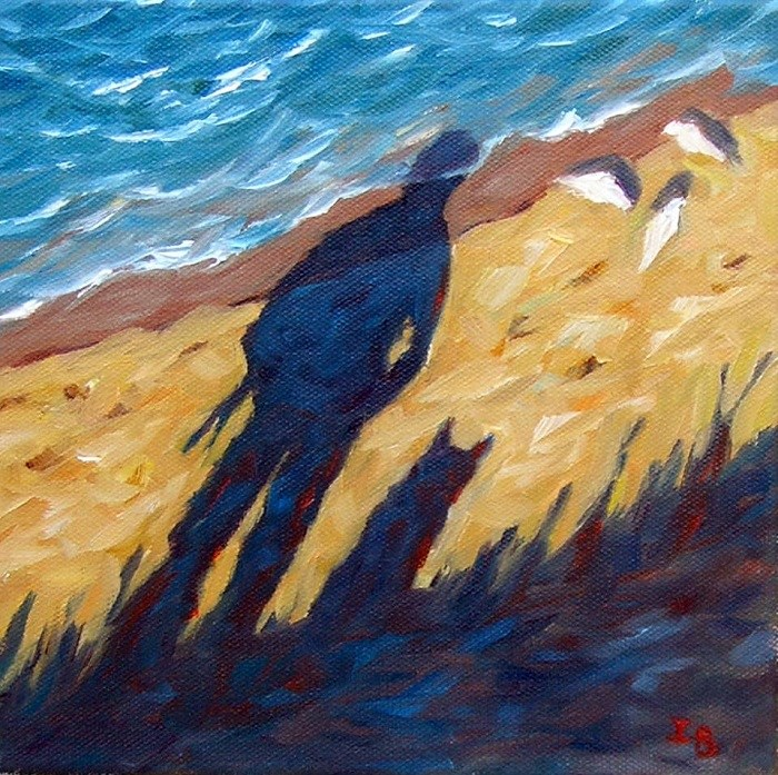 """Long walk to the sea"" original fine art by Irina Beskina"