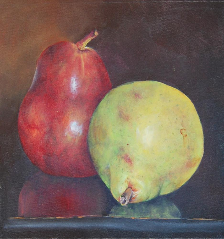 """A Pair of Pears"" original fine art by Maureen Baker"