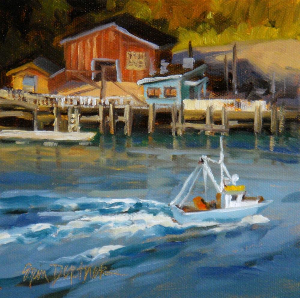 """Heading into the Harbor"" original fine art by Erin Dertner"