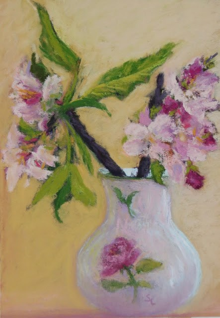 """Apple Blossom Time"" original fine art by Sharon Lewis"