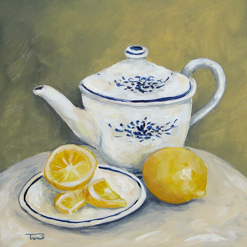 """Time for Tea"" original fine art by Torrie Smiley"
