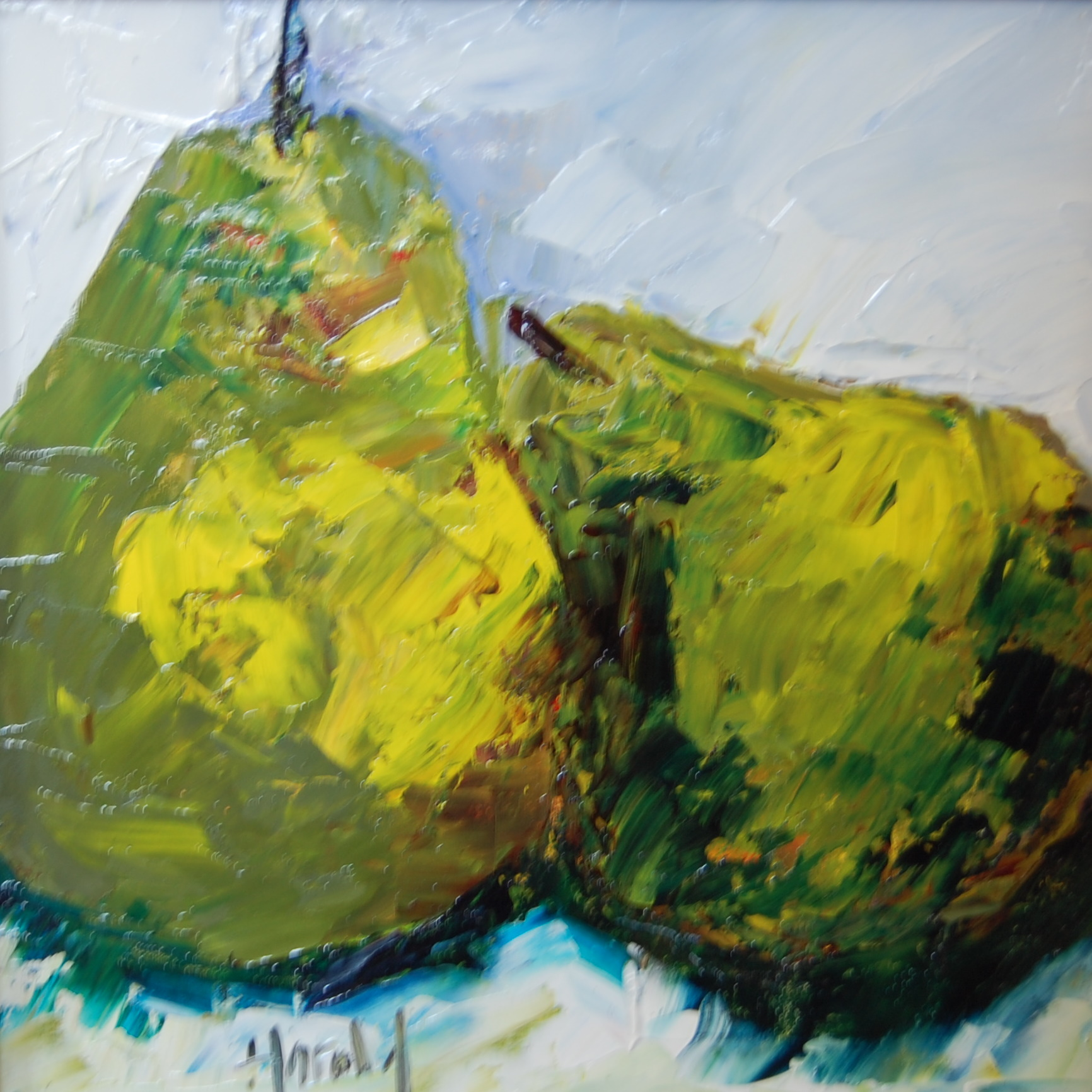 """Pair of Pears"" original fine art by Deborah Harold"