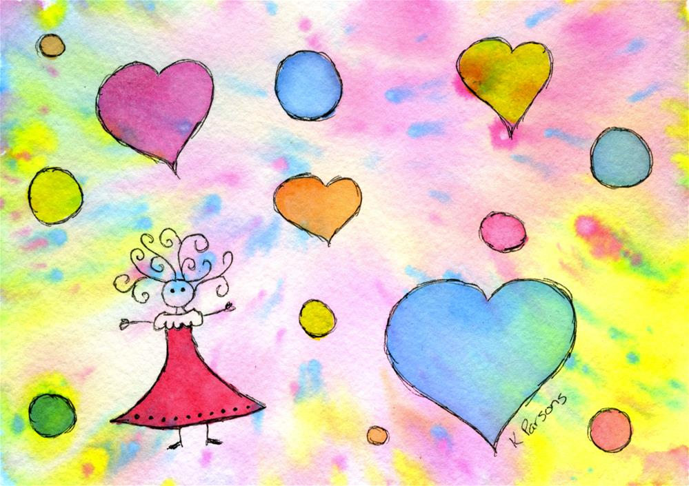 """Celebration of Life and Love"" original fine art by Kali Parsons"