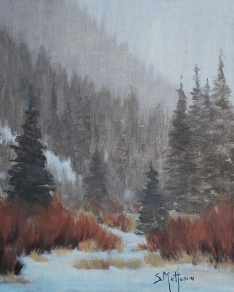 """High Country Snowfall"" original fine art by Susan Matteson"