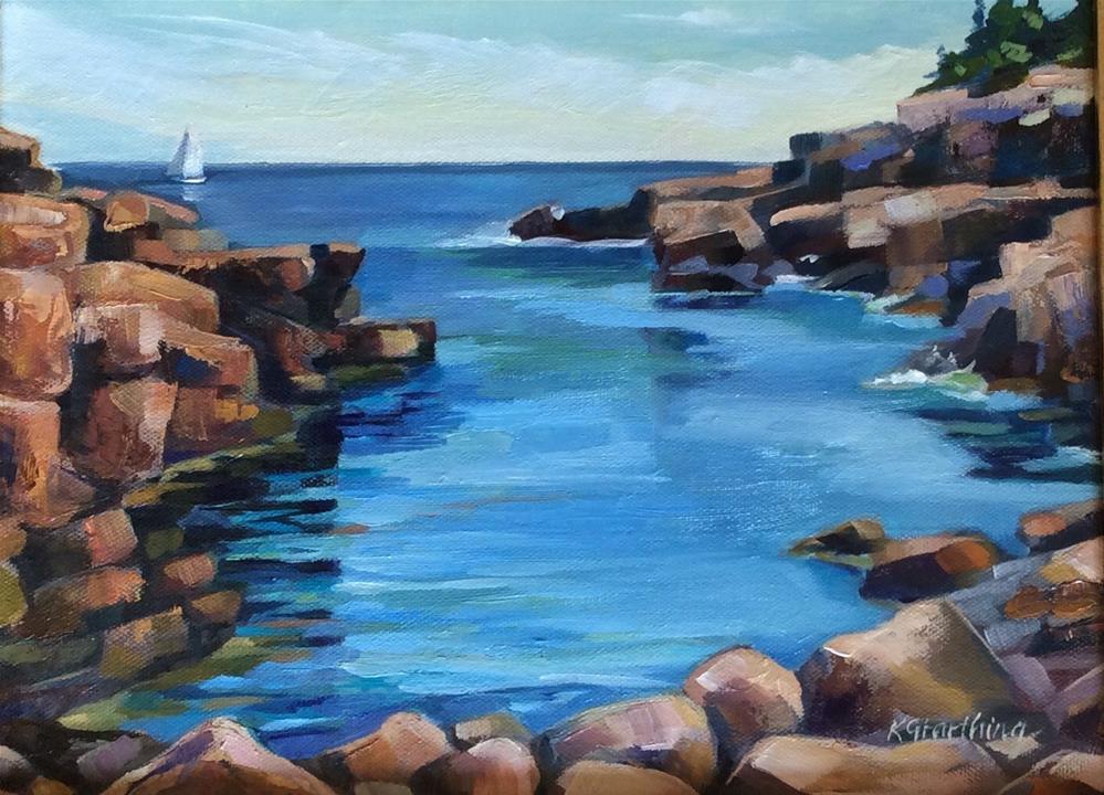 """""""Secret Cove"""" original fine art by Kathleen Gray Farthing"""