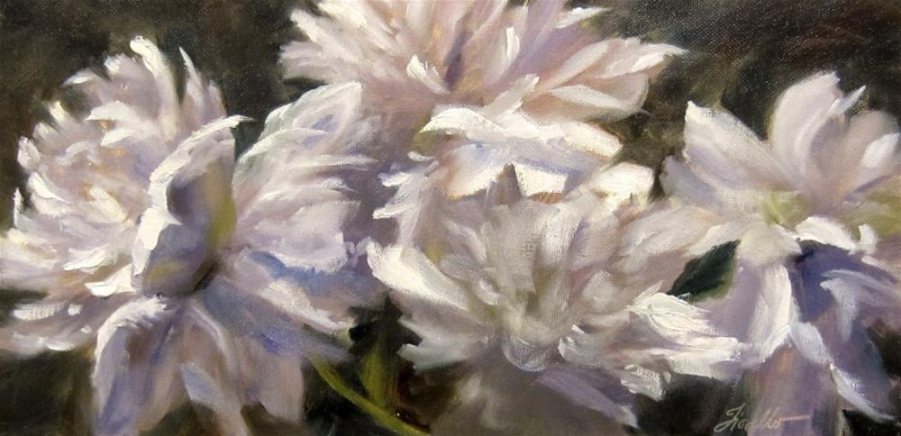 """Peony Dance"" original fine art by Pat Fiorello"