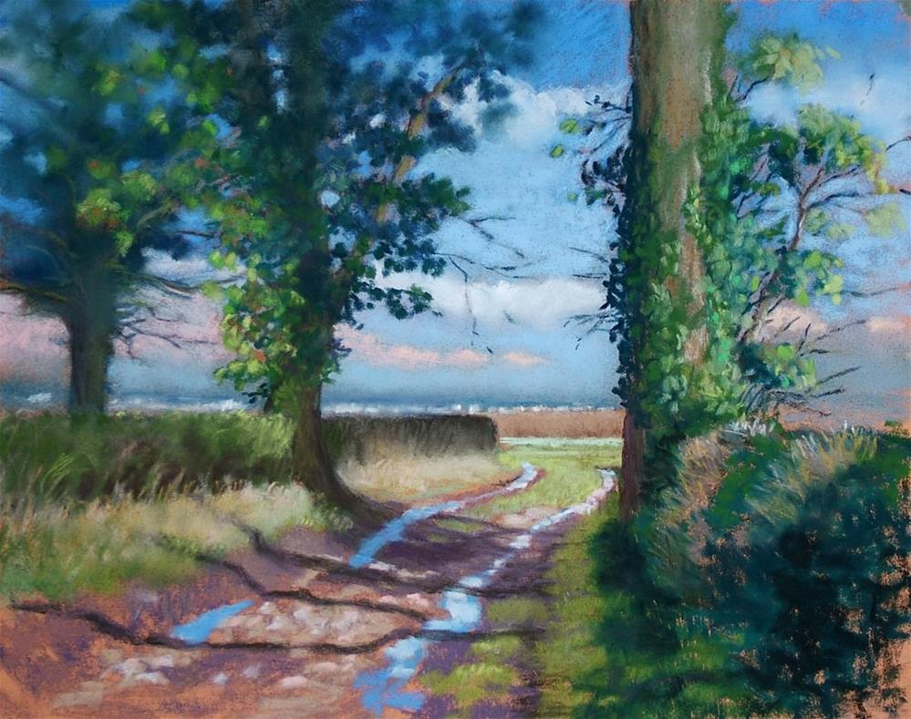 """Quiet Country Lane"" original fine art by Christine Derrick"