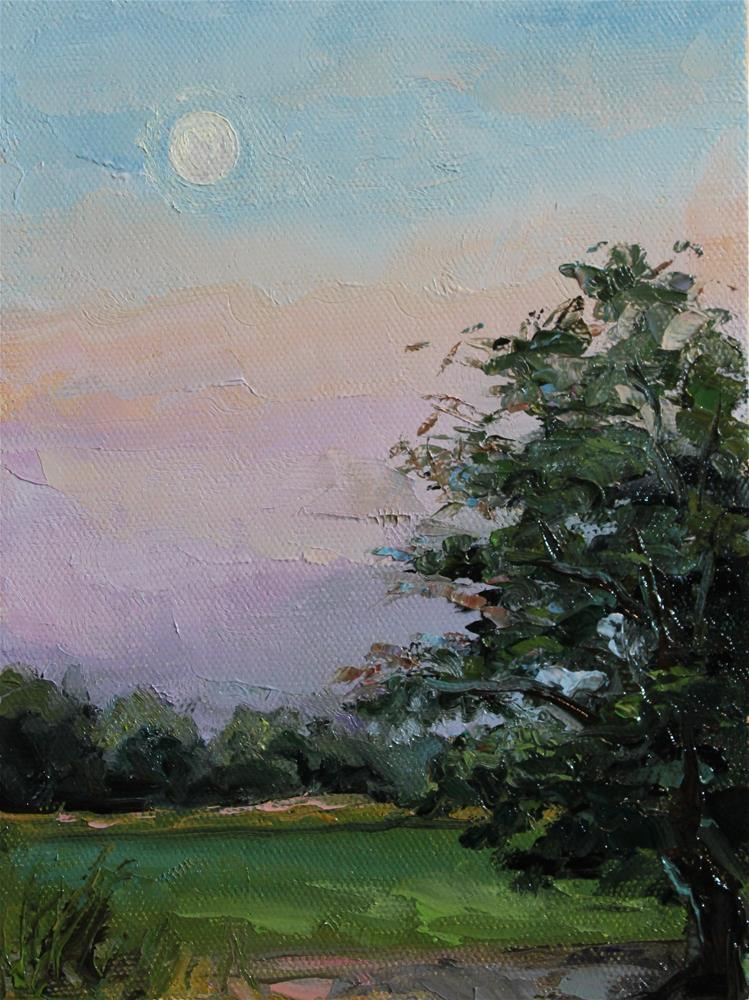 """peaceful evening"" original fine art by H.F. Wallen"