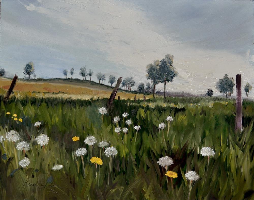 """Dandelion Meadow"" original fine art by Karen Weber"