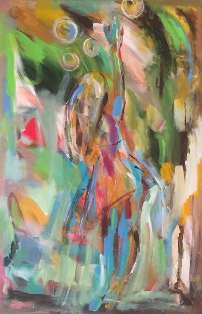 """Bubble Girl"" original fine art by Molly Wright"