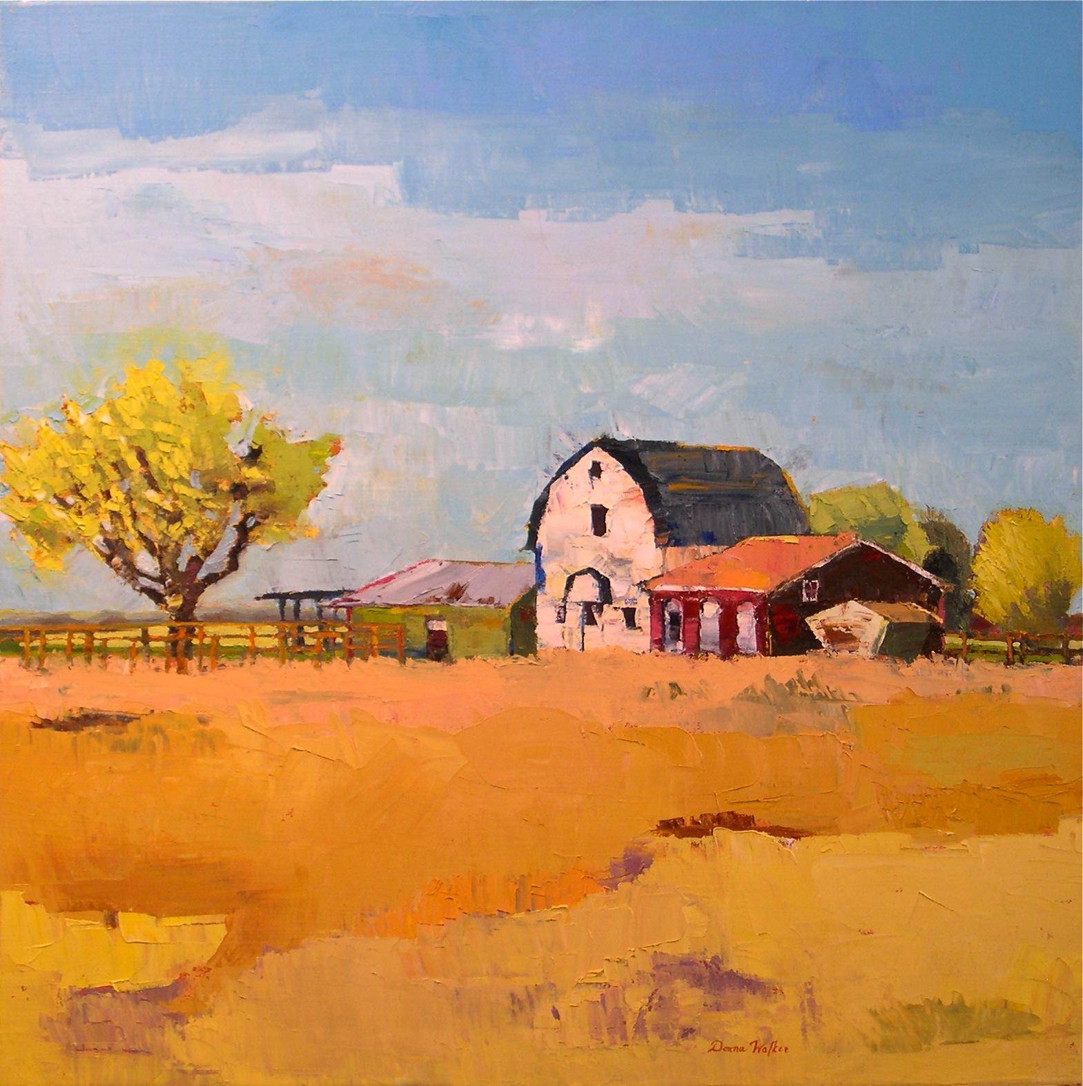 """Harmony in Blue & Yellow"" original fine art by Donna Walker"