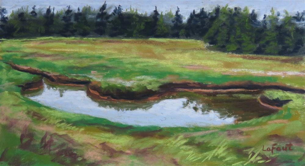 """Meandering Stream"" original fine art by Sandra LaFaut"