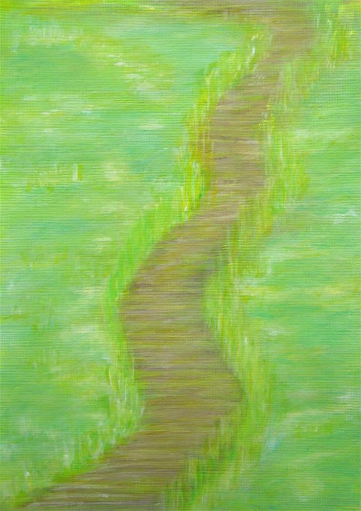 """Swamp Path"" original fine art by Alina Frent"
