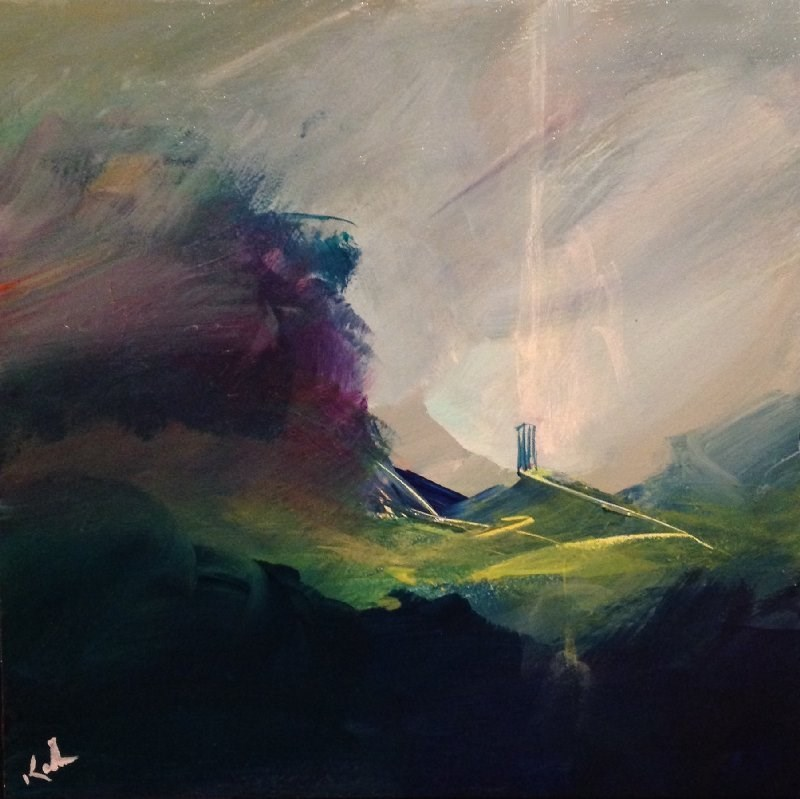 """The Air is All Softness"" original fine art by David Kuhn"