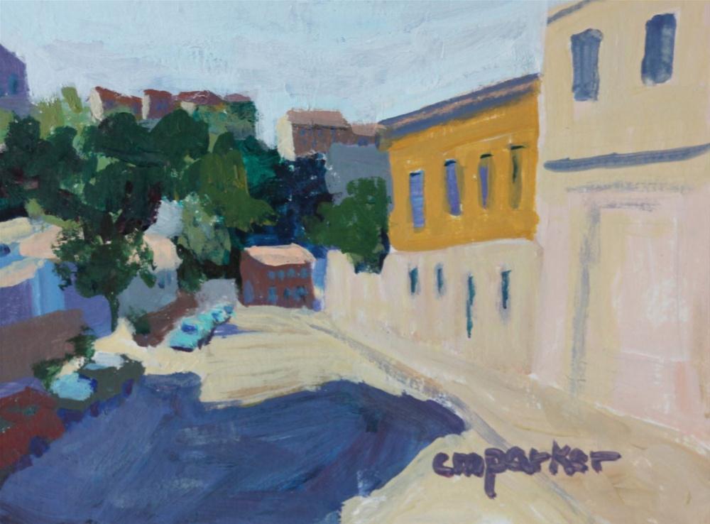 """Valpariso Street Scene"" original fine art by Christine Parker"